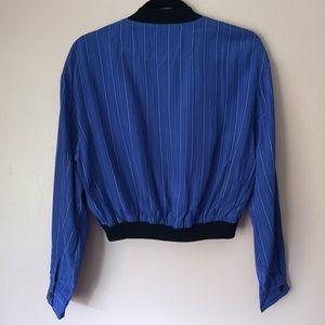Esprit Jackets & Coats - Vintage Esprit Pinstripe Bomber Jacket
